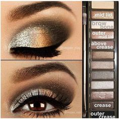 Brown eyeshadow Beauty ❤ liked on Polyvore featuring beauty products, makeup, eye makeup, eyeshadow and eyes