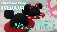 (DIY) Topo de Bolo Mickey e Minnie ( Topper cake ) - Sah  Passa o passo ...