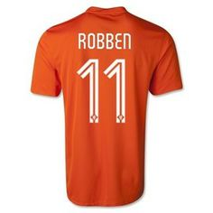 Arjen Robben Holland (Netherlands) 2014 FIFA World Cup Home Jersey http://www.soccerbox.com/11218