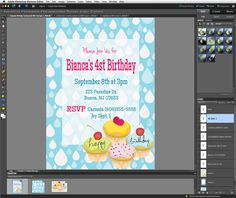 TUTORIAL: Make Your Own Invites with Photoshop Elements -FREE DOWNLOADS included! Simple Tutorial for Beginners