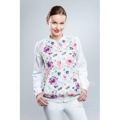 Odzież medyczna dla kobiet. | Bluza damska we wzory 1511a - z pewnością będzie to strzał w 10-tkę dla pielęgniarek i lekarzy. | Sklep internetowy Dersa |