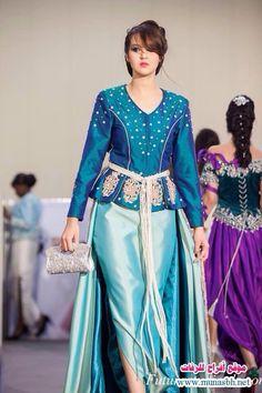 Algerian fashion: Turquoise karakou