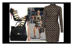 """""""..."""" by ma-nouvelle-vie-en-rose on Polyvore featuring Jennifer Lopez, Christian Louboutin and Dolce&Gabbana"""