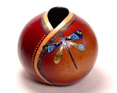 by artist Bonnie Gibson - LOOOOOOOOOOOOVE THIS!    Gourd and glass |Pinned from PinTo for iPad|