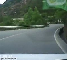 Three wheel car taking the bend a little too fast | Gif Finder – Find and Share funny animated gifs