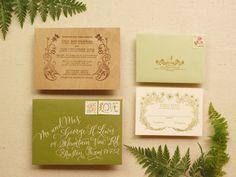 DIY Wood Veneer Wedding Invitations by Antiquaria via Oh So Beautiful Paper