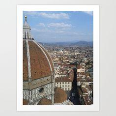 Firenze From Above by AnnaF31 Firenze, Italy, Historic Centre of Firenze, Brunelleschi's Dome, Piazza della Signoria, Sun, Spring, Sky, City, Blue, Landscape, Cathedral of Santa Maria del Fiore, Baptistery of San Giovanni, Architecture