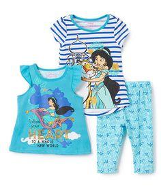 Another great find on #zulily! Disney Princess Jasmine Tee Set - Toddler & Girls #zulilyfinds
