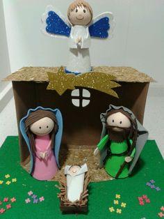 Belén goma eva Foam nativity