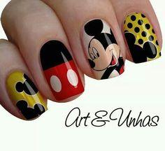 Mickey Mouse. Disney. Manicure.