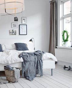 scandinavian-style-9-bedroom-with-grey-accents © Alvhem Estate and Interiors