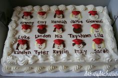 What a cute cake for Kindergarten graduation!!!