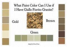 giallo fiorito granite countertops with cream cabinets - Google Search
