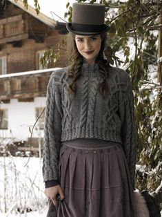 Rowan Classic Alpine. Love the skirt and sweater. The hat, not so much my style! (Makes a great pic though)