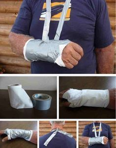 Set broken bones with toilet paper and duct tape. 20 Easy Post-Apocalypse Life Hacks Any Survivor Can Do Survival Life, Survival Prepping, Emergency Preparedness, Survival Gear, Survival Skills, Survival Hacks, Survival Stuff, Emergency Preparation, Wilderness Survival