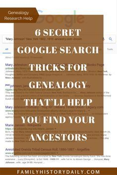 Find your ancestors via Google with these 6 search tricks few people know about.
