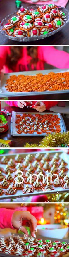 Pretzel Hugs | 20 + Easy Christmas Treats for School Parties