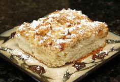 Inspired by her recent trip to Poland, Great Host Peggy Daly enjoyed serving Polish Apple Cake.