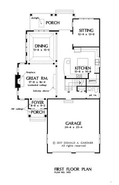 Check out the first floor plan of house plan 1451, The Norfolk. Now in progress! #WeDesignDreams