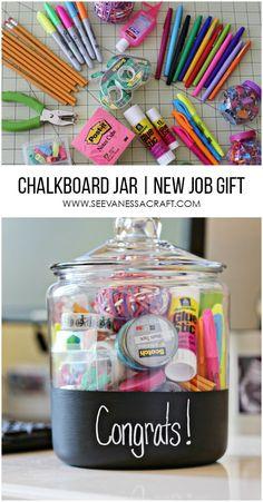 New Job Gift in a Chalkboard Jar #GearLove #ad