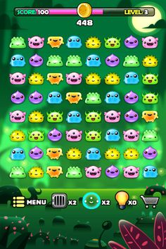 Blob Monsters iOS game by Juan Casini, via Behance