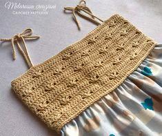 Vestito con il corpino all'uncinetto – tutorial completo – Melarossa creazioni Crochet Fabric, Baby Knitting Patterns, Straw Bag, Anna, Fashion, Tejidos, Stitches, Fantasy, Types Of
