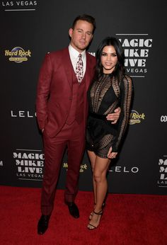 "Jenna Dewan-Tatum Photos Photos - Actor Channing Tatum (L) and actress Jenna Dewan Tatum attend the grand opening of ""Magic Mike Live Las Vegas"" at the Hard Rock Hotel & Casino on April 21, 2017 in Las Vegas, Nevada. - 'Magic Mike Live Las Vegas' Grand Opening"