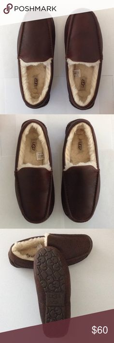 04922d92ad7 Men s UGG® Ascot Leather Slipper Details Model  5379 The Ascot is our