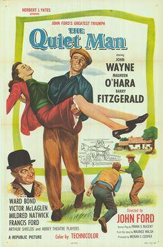 The Quiet Man starring John Wayne, Maureen O'Hara, and Barry Fitzgerald