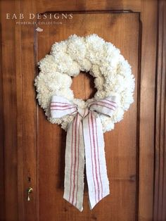 Tutorial for this gorgeous wreath - looks very time-intensive but it's so beautiful it would be worth the time.