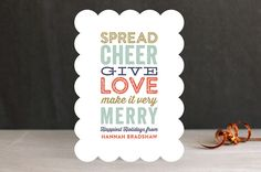 Cheer...Love...Merry by Lauren Chism at minted.com