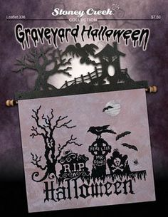Graveyard Halloween - Cross Stitch Pattern