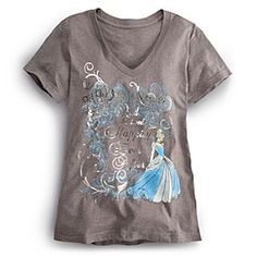 Disney Cinderella Tee for Women | Disney StoreCinderella Tee for Women - Tell a timeless fashion tale that ends ''Happily Ever After'' wearing this Cinderella tee. Contemporary character graphic is accented by silvery foil filigree and lettering to stop the show when entering any room.