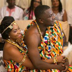 I Do Ghana   Congrats to Tony & Mikafui   Kente Wedding   African Fashion.. Ameen ... Need more styles >> http://www.dezangozone.com/