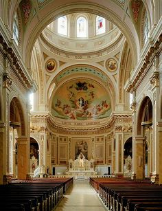 St. Mary of the Angels Church in Chicago, Illinois I've been there. It's so beautiful. I encourage anyone who can go to go there.