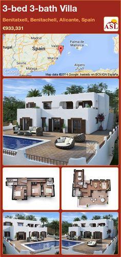 3-bed 3-bath Villa in Benitatxell, Benitachell, Alicante, Spain ►€933,331 #PropertyForSaleInSpain