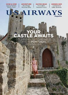 U.S. Airways magazine cover art featuring Portugal from April 2012    #USAirways #magazine #Portugal