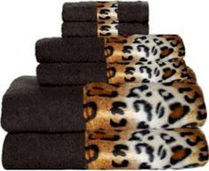 Tiger Bathroom Set | BORDERING AFRICA BLACK/SNOW LEOPARD BORDERING AFRICA  BLACK/MOCHA ZEBRA