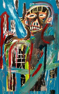 Jean-Michel Basquiat - Untitled, 1982 Jm Basquiat, Jean Michel Basquiat Art, Fondation Louis Vuitton, Graffiti Art, Basquiat Paintings, Pop Art Artists, Tape Art, Art Africain, A Level Art