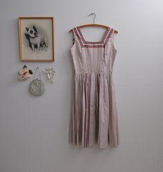 Vintage 50s Print Dress - The Annette - on Etsy, $148.00
