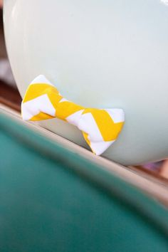The Chevron Little Guy Bow Tie by butteredtoast on Etsy, $17.99
