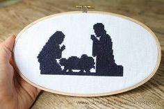 Resultado de imagem para nativity cross stitch