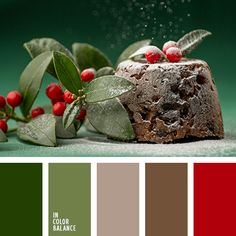 Christmas pudding red and green color palette / Christmas color inspiration / color scheme ideas for Christmas