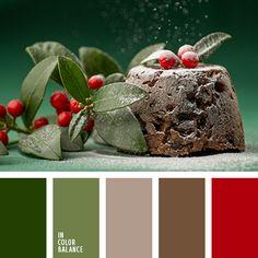 burdeos, burdeos y rojo, color de las bayas, combinación de colores contrastante, contraste, escarlata, gris, gris oscuro, rojo carmesí, rojo y verde, tonos grises, verde, verde oscuro, verde oscuro y burdeos.