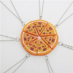 pizza necklace charm jewelry set from touchy style outfit accessories cute phone cases casual shoes cool backpack charm jewelry simple cheap watches and more - The world's most private search engine Friendship Necklaces, Friend Necklaces, Friendship Gifts, Charm Jewelry, Jewelry Sets, Jewelry Watches, Diy Jewelry, Jewelry Necklaces, Diamond Solitaire Necklace