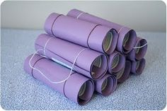 The invites! They were made to look like little rolled up yoga mats