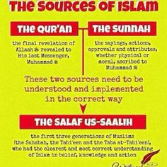 "Assalamualaikum brothers  sisters, this pic is one of many of how to understand Islam. Islam has 2 sources, Al Qur`an  As Sunnah,  both of them were sent through beloved prophet Muhammad sallallahu alayhi wasallam. Kindly do not trapped with the word ""correct"" it`s ONLY belong to Allah Azza Wa Jalla. InSha Allah the more we learn, the more we become  ولي الله walī Allāh. Wallahu a'lam bi shawab. May Allah Azza Wa Jalla pleased with us. (EM)"