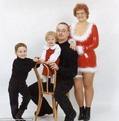 It's not Christmas until mom puts on her sexy Santa costume...Disturbing.