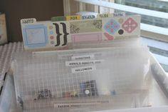 scrapbook organization: stickers