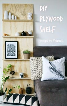 Tuesday Tips - DIY plywood shelf - Hege in France